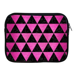 Triangle3 Black Marble & Pink Brushed Metal Apple Ipad 2/3/4 Zipper Cases by trendistuff