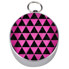 Triangle3 Black Marble & Pink Brushed Metal Silver Compasses by trendistuff