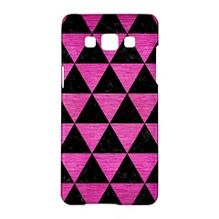 Triangle3 Black Marble & Pink Brushed Metal Samsung Galaxy A5 Hardshell Case  by trendistuff
