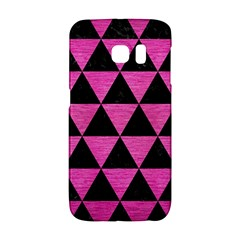 Triangle3 Black Marble & Pink Brushed Metal Galaxy S6 Edge by trendistuff