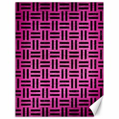 Woven1 Black Marble & Pink Brushed Metal Canvas 12  X 16   by trendistuff
