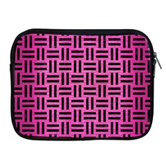 Woven1 Black Marble & Pink Brushed Metal Apple Ipad 2/3/4 Zipper Cases by trendistuff