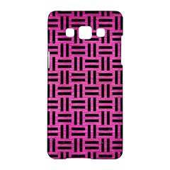 Woven1 Black Marble & Pink Brushed Metal Samsung Galaxy A5 Hardshell Case  by trendistuff