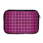 WOVEN1 BLACK MARBLE & PINK BRUSHED METAL Apple MacBook Pro 17  Zipper Case Front