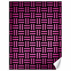 Woven1 Black Marble & Pink Brushed Metal (r) Canvas 18  X 24   by trendistuff