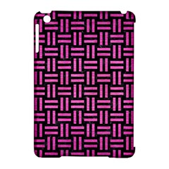Woven1 Black Marble & Pink Brushed Metal (r) Apple Ipad Mini Hardshell Case (compatible With Smart Cover) by trendistuff
