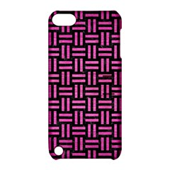 Woven1 Black Marble & Pink Brushed Metal (r) Apple Ipod Touch 5 Hardshell Case With Stand by trendistuff