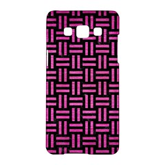 Woven1 Black Marble & Pink Brushed Metal (r) Samsung Galaxy A5 Hardshell Case  by trendistuff