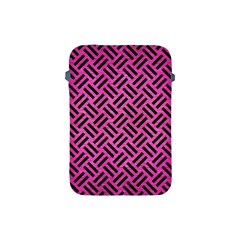 Woven2 Black Marble & Pink Brushed Metal Apple Ipad Mini Protective Soft Cases by trendistuff