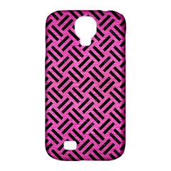 Woven2 Black Marble & Pink Brushed Metal Samsung Galaxy S4 Classic Hardshell Case (pc+silicone) by trendistuff