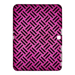Woven2 Black Marble & Pink Brushed Metal Samsung Galaxy Tab 4 (10 1 ) Hardshell Case  by trendistuff