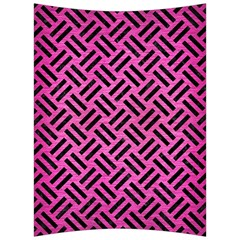 Woven2 Black Marble & Pink Brushed Metal Back Support Cushion by trendistuff