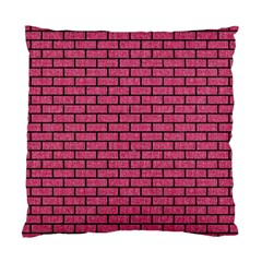 Brick1 Black Marble & Pink Denim Standard Cushion Case (two Sides) by trendistuff