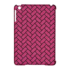 Brick2 Black Marble & Pink Denim Apple Ipad Mini Hardshell Case (compatible With Smart Cover) by trendistuff