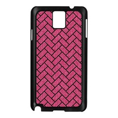 Brick2 Black Marble & Pink Denim Samsung Galaxy Note 3 N9005 Case (black) by trendistuff