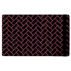 Brick2 Black Marble & Pink Denim (r) Apple Ipad 2 Flip Case by trendistuff