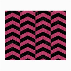 Chevron2 Black Marble & Pink Denim Small Glasses Cloth (2 Side)