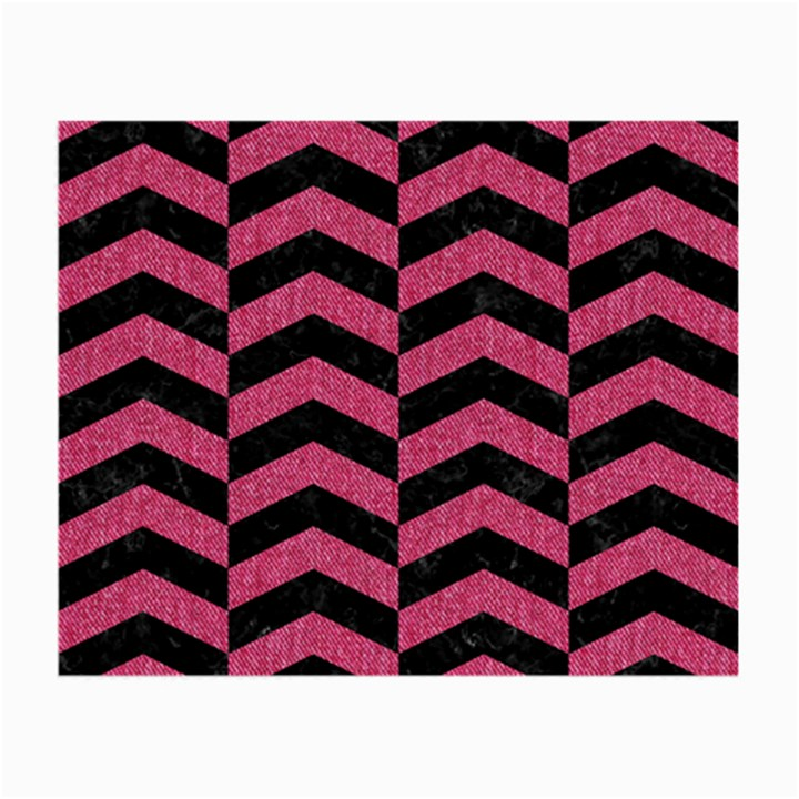 CHEVRON2 BLACK MARBLE & PINK DENIM Small Glasses Cloth (2-Side)