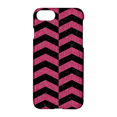 Chevron2 Black Marble & Pink Denim Apple Iphone 7 Hardshell Case