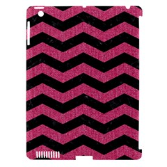 Chevron3 Black Marble & Pink Denim Apple Ipad 3/4 Hardshell Case (compatible With Smart Cover) by trendistuff