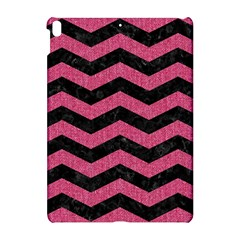 Chevron3 Black Marble & Pink Denim Apple Ipad Pro 10 5   Hardshell Case by trendistuff