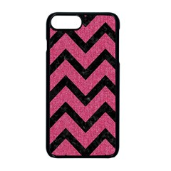 Chevron9 Black Marble & Pink Denim Apple Iphone 8 Plus Seamless Case (black) by trendistuff