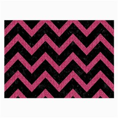 Chevron9 Black Marble & Pink Denim (r) Large Glasses Cloth (2 Side) by trendistuff