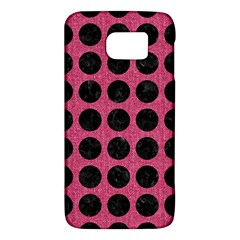 Circles1 Black Marble & Pink Denim Galaxy S6 by trendistuff