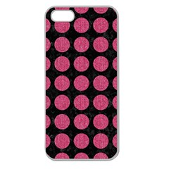 Circles1 Black Marble & Pink Denim (r) Apple Seamless Iphone 5 Case (clear) by trendistuff