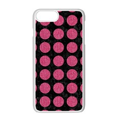 Circles1 Black Marble & Pink Denim (r) Apple Iphone 7 Plus Seamless Case (white) by trendistuff