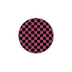 Circles2 Black Marble & Pink Denim Golf Ball Marker (4 Pack) by trendistuff