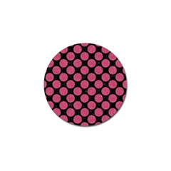 Circles2 Black Marble & Pink Denim (r) Golf Ball Marker (10 Pack) by trendistuff