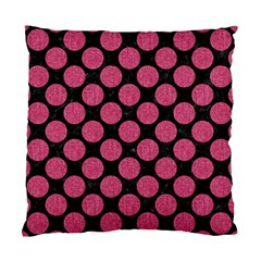 Circles2 Black Marble & Pink Denim (r) Standard Cushion Case (one Side) by trendistuff