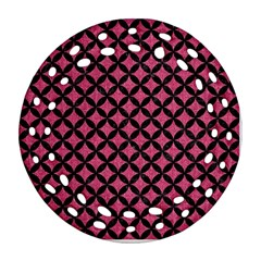 Circles3 Black Marble & Pink Denim Ornament (round Filigree) by trendistuff
