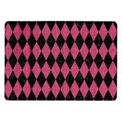 Diamond1 Black Marble & Pink Denim Samsung Galaxy Tab 10 1  P7500 Flip Case by trendistuff
