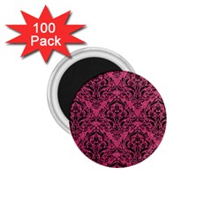 Damask1 Black Marble & Pink Denim 1 75  Magnets (100 Pack)  by trendistuff
