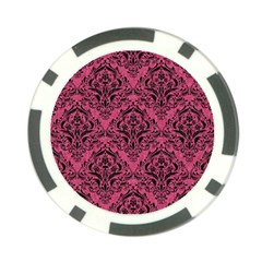 Damask1 Black Marble & Pink Denim Poker Chip Card Guard (10 Pack) by trendistuff
