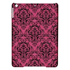 Damask1 Black Marble & Pink Denim Ipad Air Hardshell Cases by trendistuff