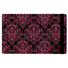 Damask1 Black Marble & Pink Denim (r) Apple Ipad Pro 9 7   Flip Case by trendistuff