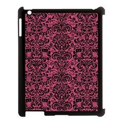 Damask2 Black Marble & Pink Denim Apple Ipad 3/4 Case (black) by trendistuff