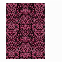 Damask2 Black Marble & Pink Denim (r) Small Garden Flag (two Sides) by trendistuff