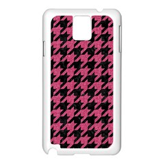 Houndstooth1 Black Marble & Pink Denim Samsung Galaxy Note 3 N9005 Case (white) by trendistuff