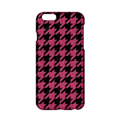 Houndstooth1 Black Marble & Pink Denim Apple Iphone 6/6s Hardshell Case by trendistuff