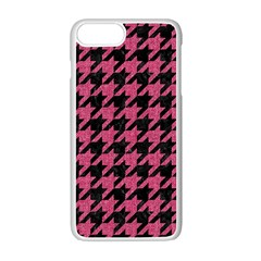 Houndstooth1 Black Marble & Pink Denim Apple Iphone 7 Plus Seamless Case (white) by trendistuff