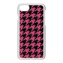 Houndstooth1 Black Marble & Pink Denim Apple Iphone 8 Seamless Case (white) by trendistuff