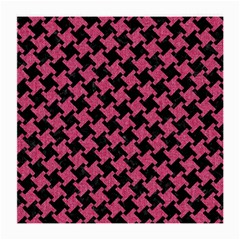 Houndstooth2 Black Marble & Pink Denim Medium Glasses Cloth by trendistuff