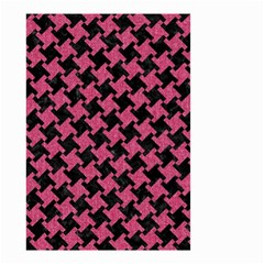 Houndstooth2 Black Marble & Pink Denim Small Garden Flag (two Sides) by trendistuff
