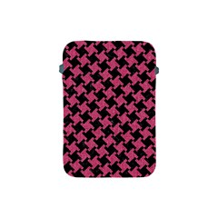 Houndstooth2 Black Marble & Pink Denim Apple Ipad Mini Protective Soft Cases by trendistuff