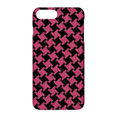 Houndstooth2 Black Marble & Pink Denim Apple Iphone 8 Plus Hardshell Case by trendistuff