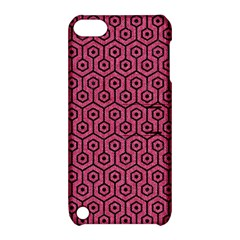 Hexagon1 Black Marble & Pink Denim Apple Ipod Touch 5 Hardshell Case With Stand by trendistuff